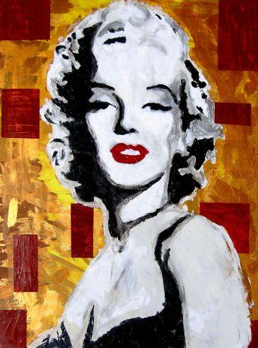 marilyn monroe pop portrait